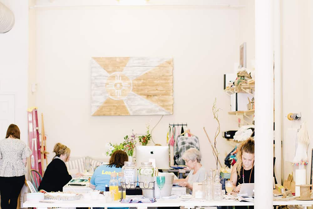 Liv + Work, a shop full of handmade goods, also plays host to workshops like Leah's fabric design class | Spoonflower Blog