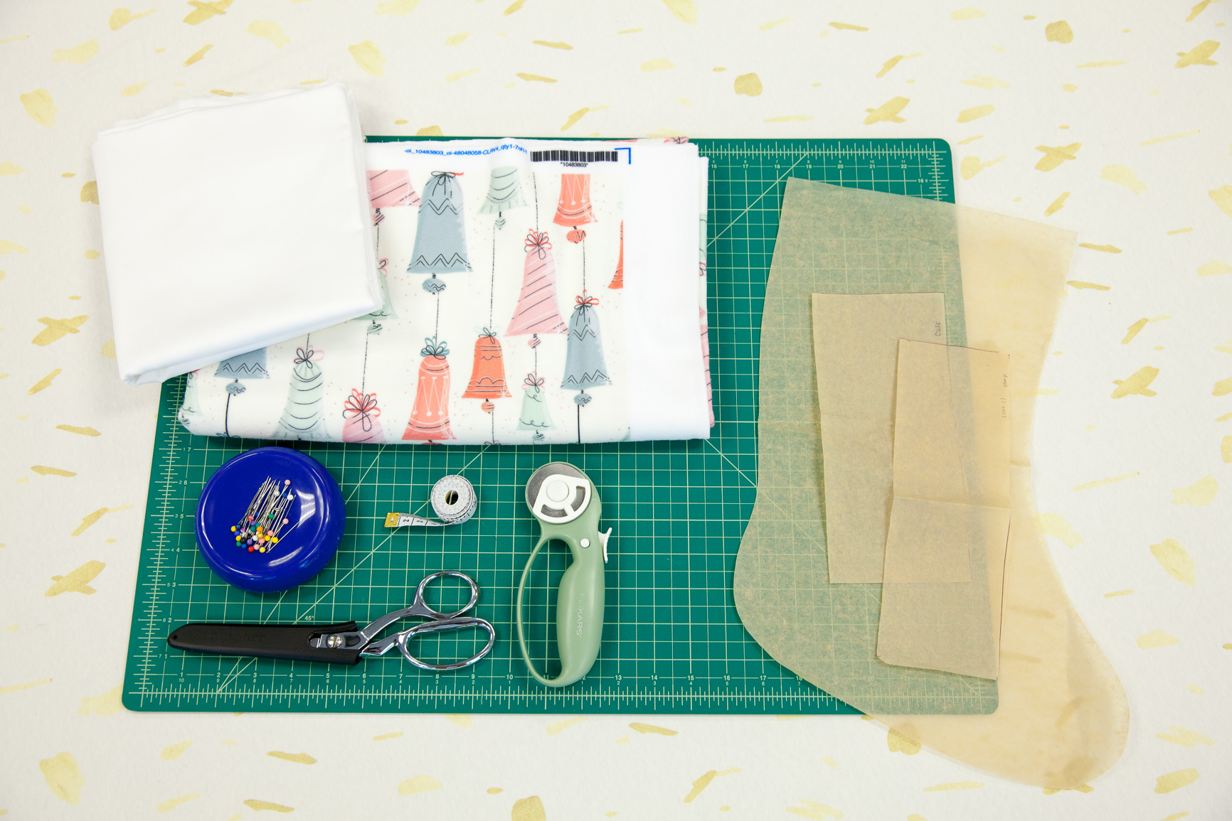 Materials for our Stocking | Spoonflower Blog