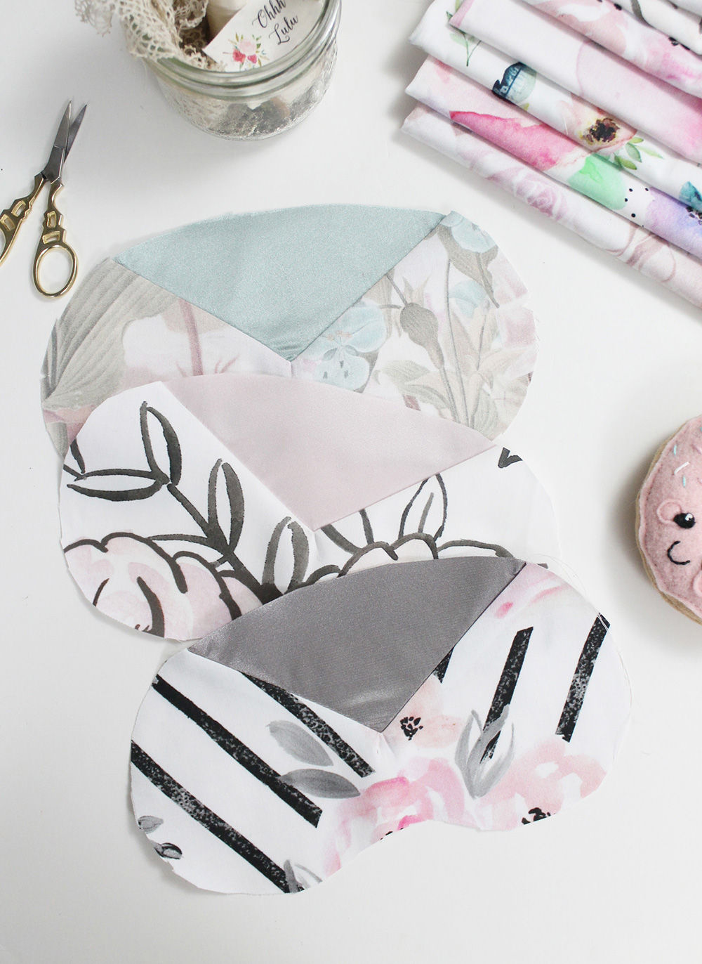 Press the sleep mask seams flat | Spoonflower Blog