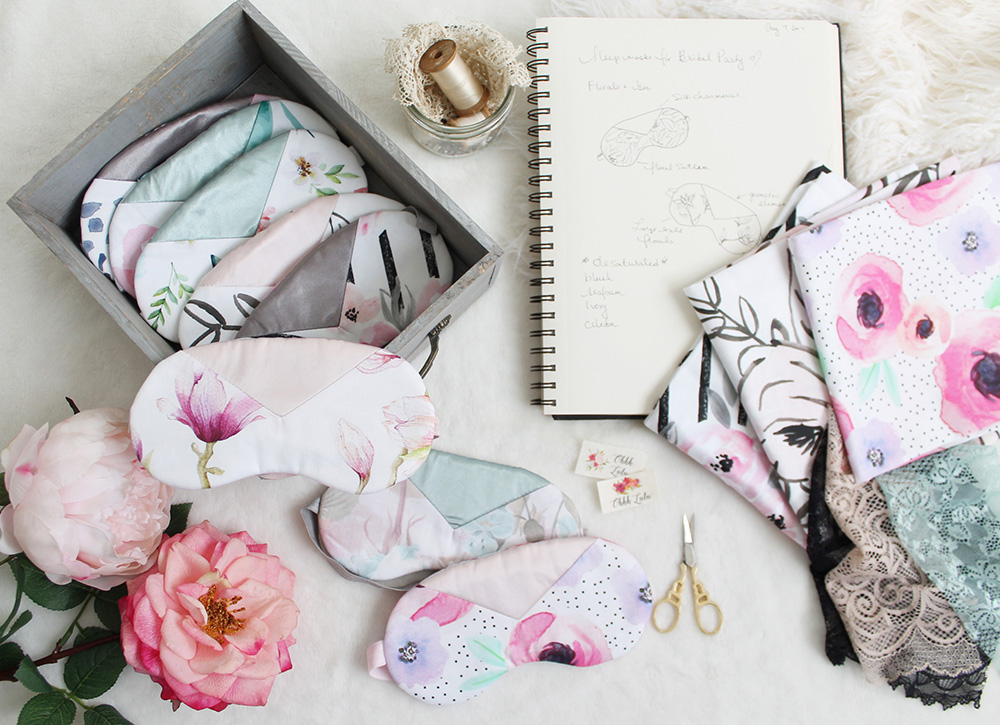 Simple and Sweet DIY Bridal Party Sleep Masks -Free Pattern Included | Spoonflower Blog