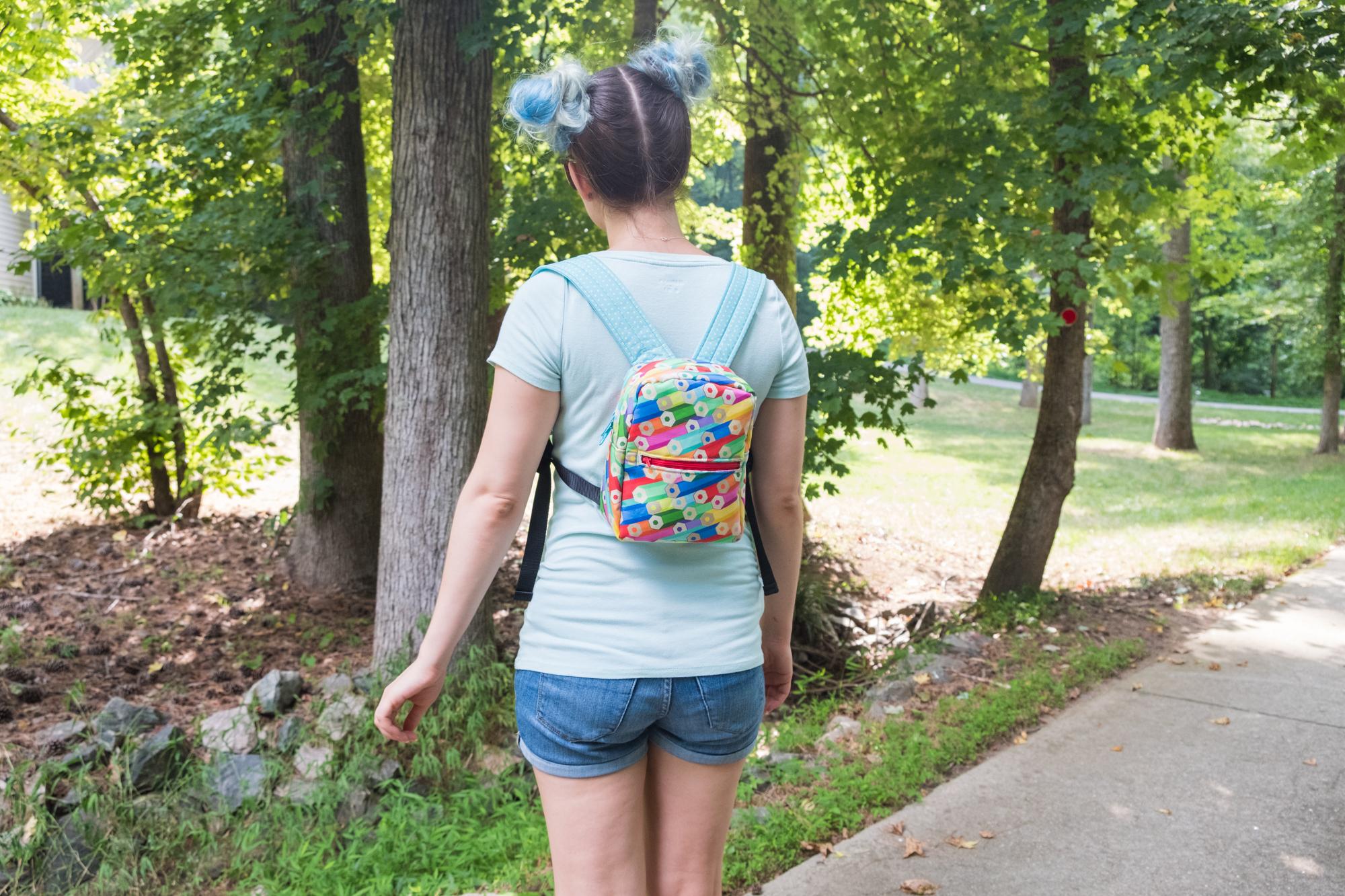 DIY Linen Cotton Canvas bookbag | Spoonflower Blog