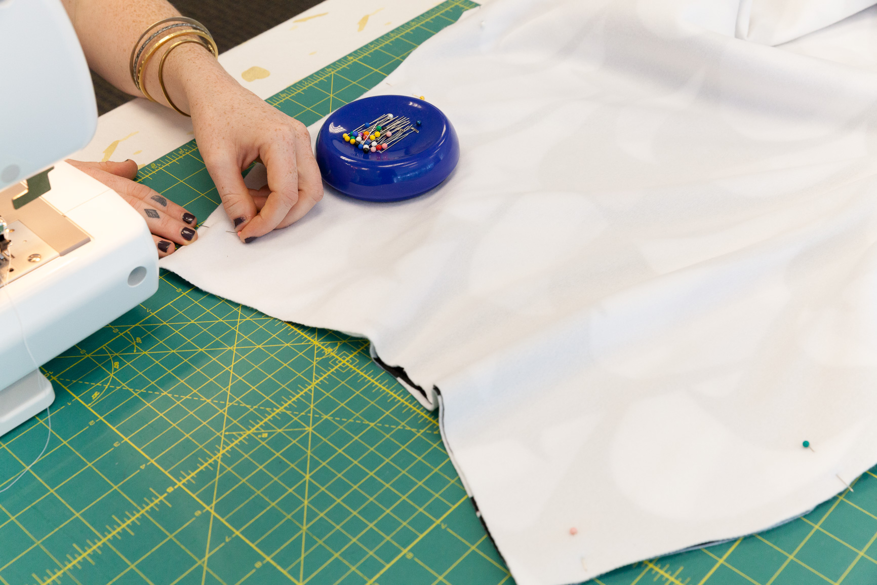 Sewing up the curved seams on either side will make the crotch seams | Spoonflower Blog