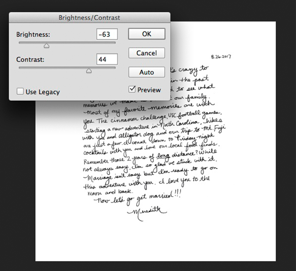 Adjust the brightness and contrast of your handwritten note | Spoonflower Blog