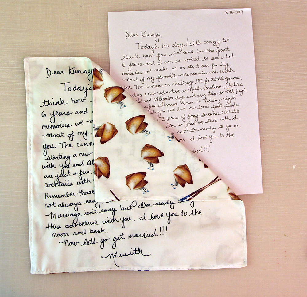 DIY Wedding: Turn a Love Note Into a Keepsake | Spoonflower Blog