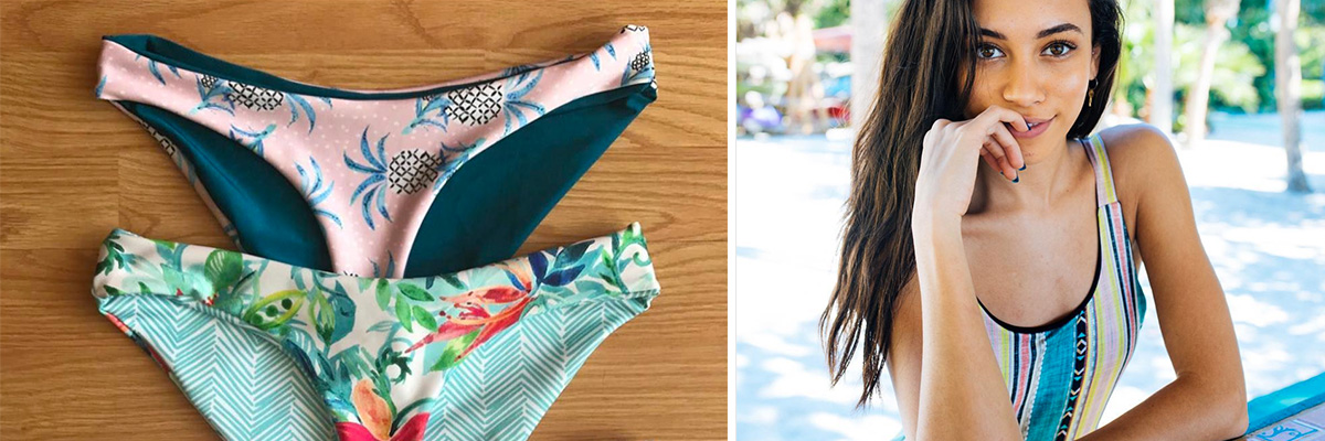 Handmade tropical swimwear | Spoonflower Blog