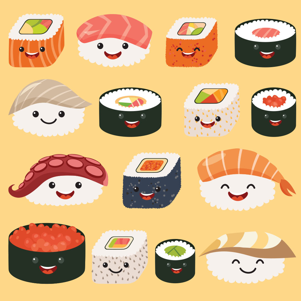 Enter your design in the Kawaii Sushi design challenge | Spoonflower Blog