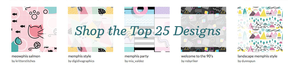 Shop the top 25 Memphis Style designs! | Spoonflower Blog