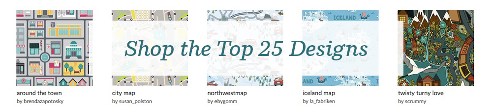 Shop the top 25 Illustrated Maps design challenge winners | Spoonflower Blog