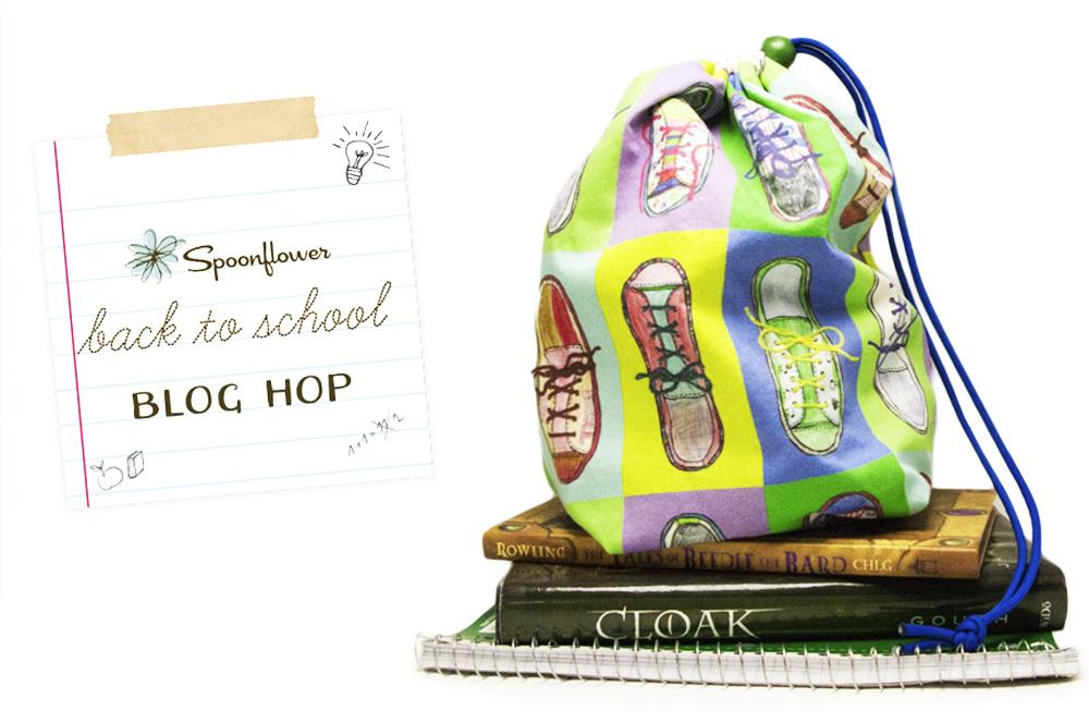 POP ART SHOE BAG TUTORIAL | Spoonflower's Back to School Blog Hop