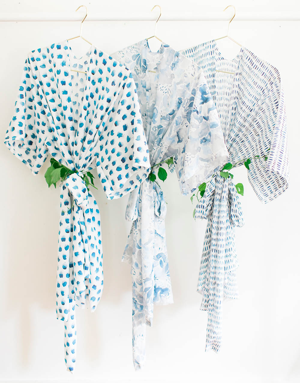 DIY Bridesmaid Robes by Style Me Pretty | Spoonflower Blog