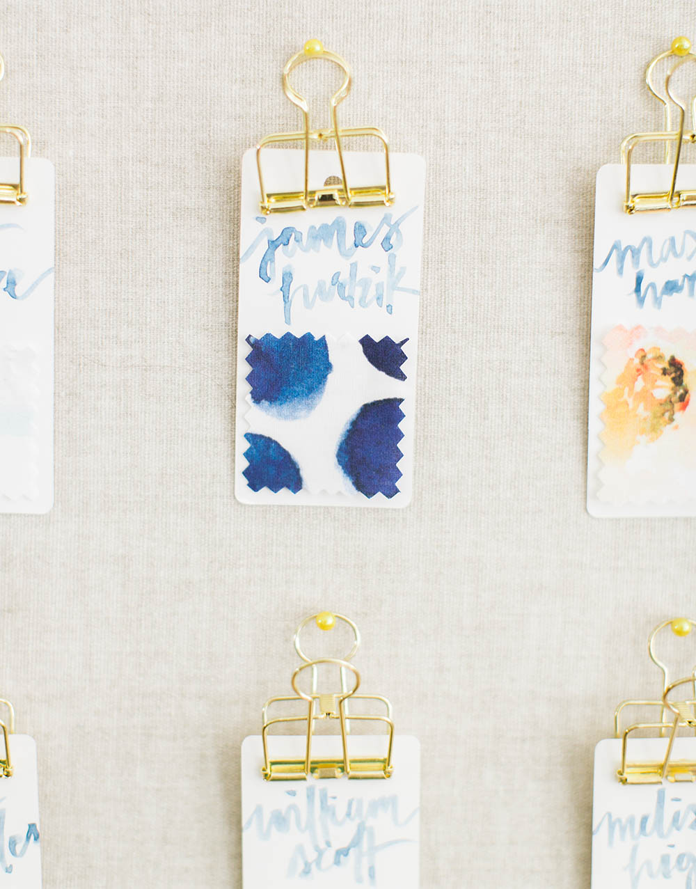 DIY Fabric escort cards for your big day | Spoonflower Blog
