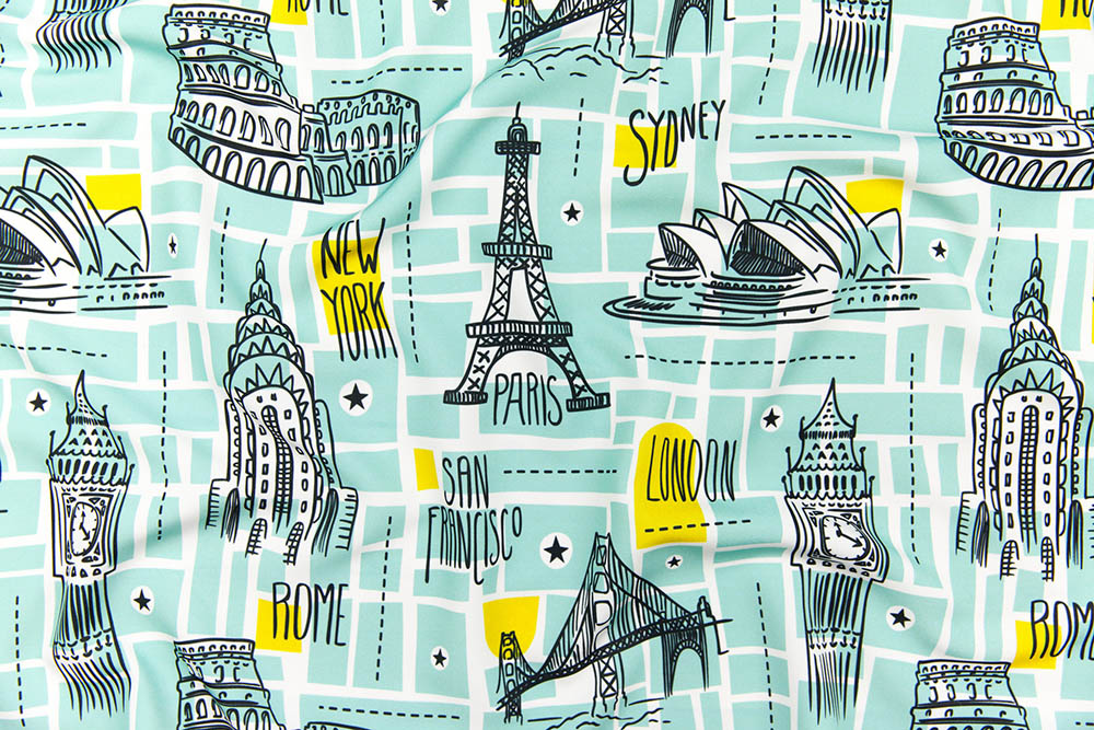grand prize winner in our Illustrated Maps design challenge! | Spoonflower Blog