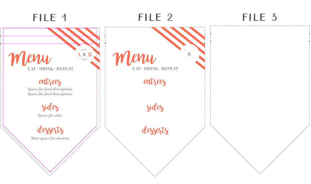 DIY Fabric Menu Banner templates | Spoonflower Blog