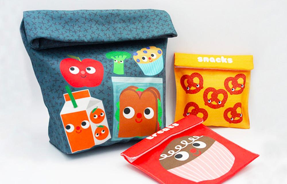 DIY Snack Packs by Heidi Kenney | Spoonflower's Back to School Blog Hop