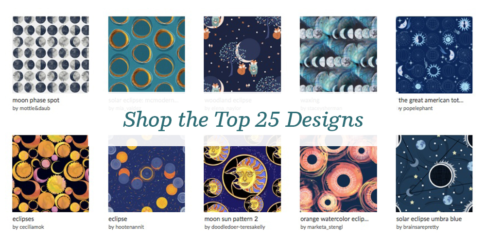 Shop the top 25 Solar Eclipse design challenge winners | Spoonflower Blog