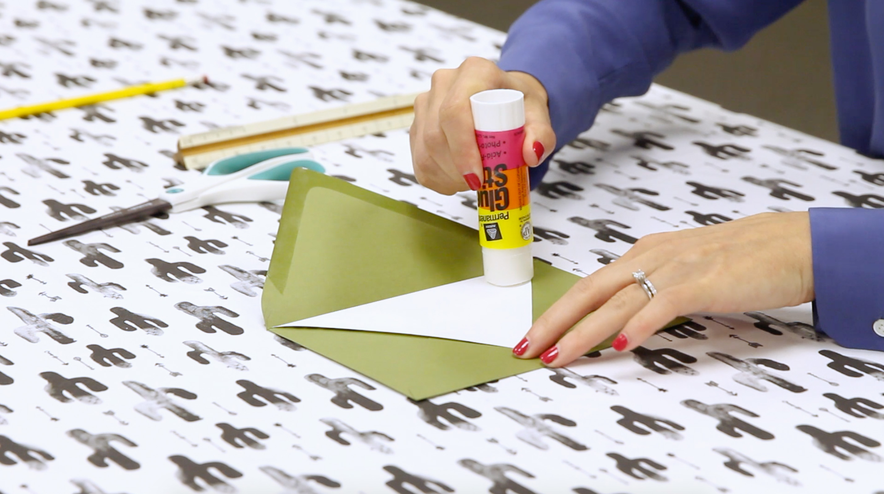 Gluing Liner to Envelope | Spoonflower Blog