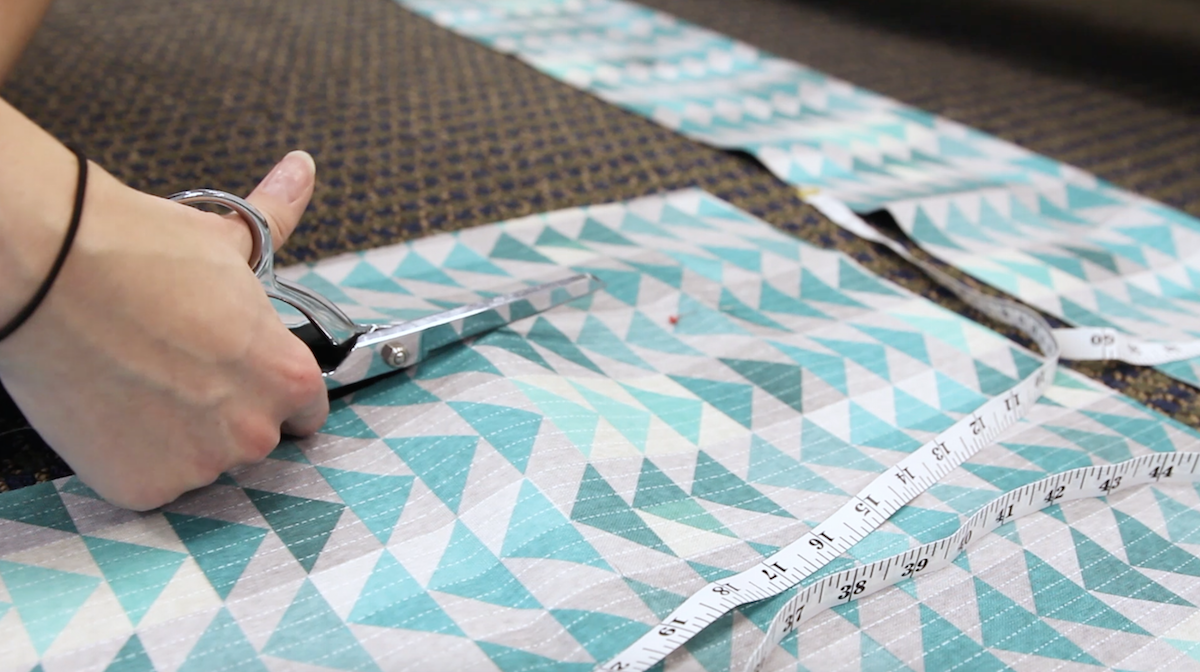 DIY dog bed: Cutting out the pieces | Spoonflower Blog