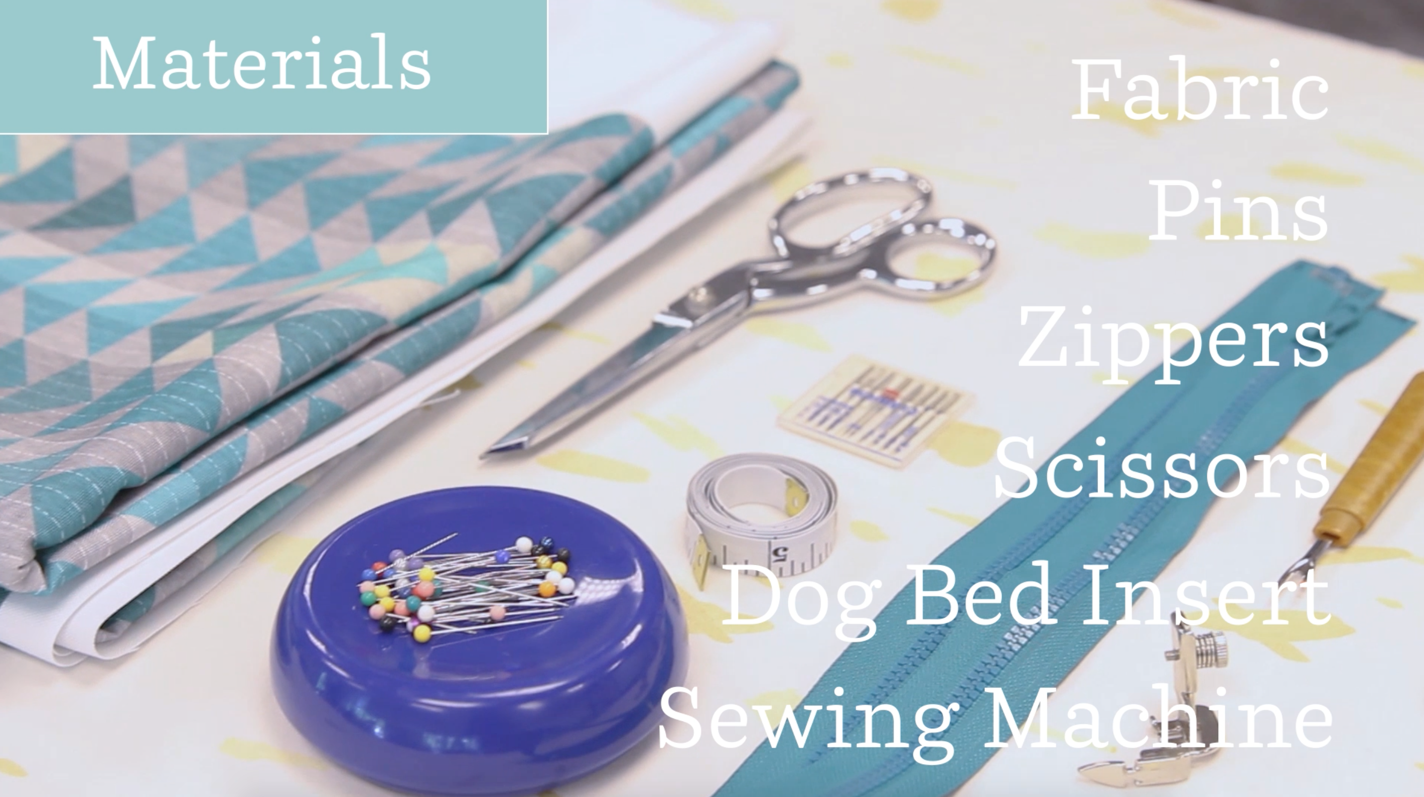 Materials you'll need to construct your dog bed! | Spoonflower Blog