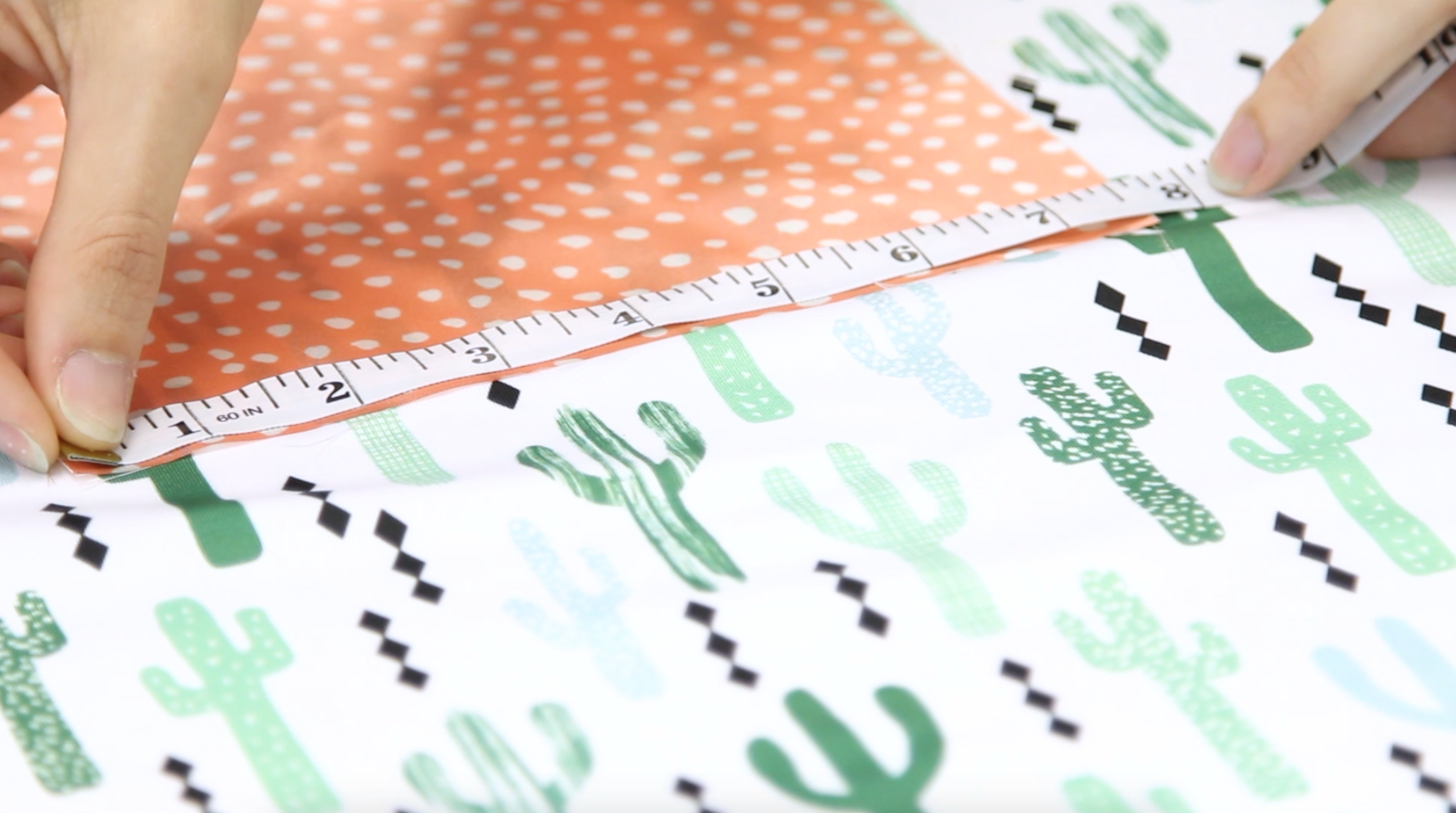 Measuring fabric squares | Spoonflower Blog