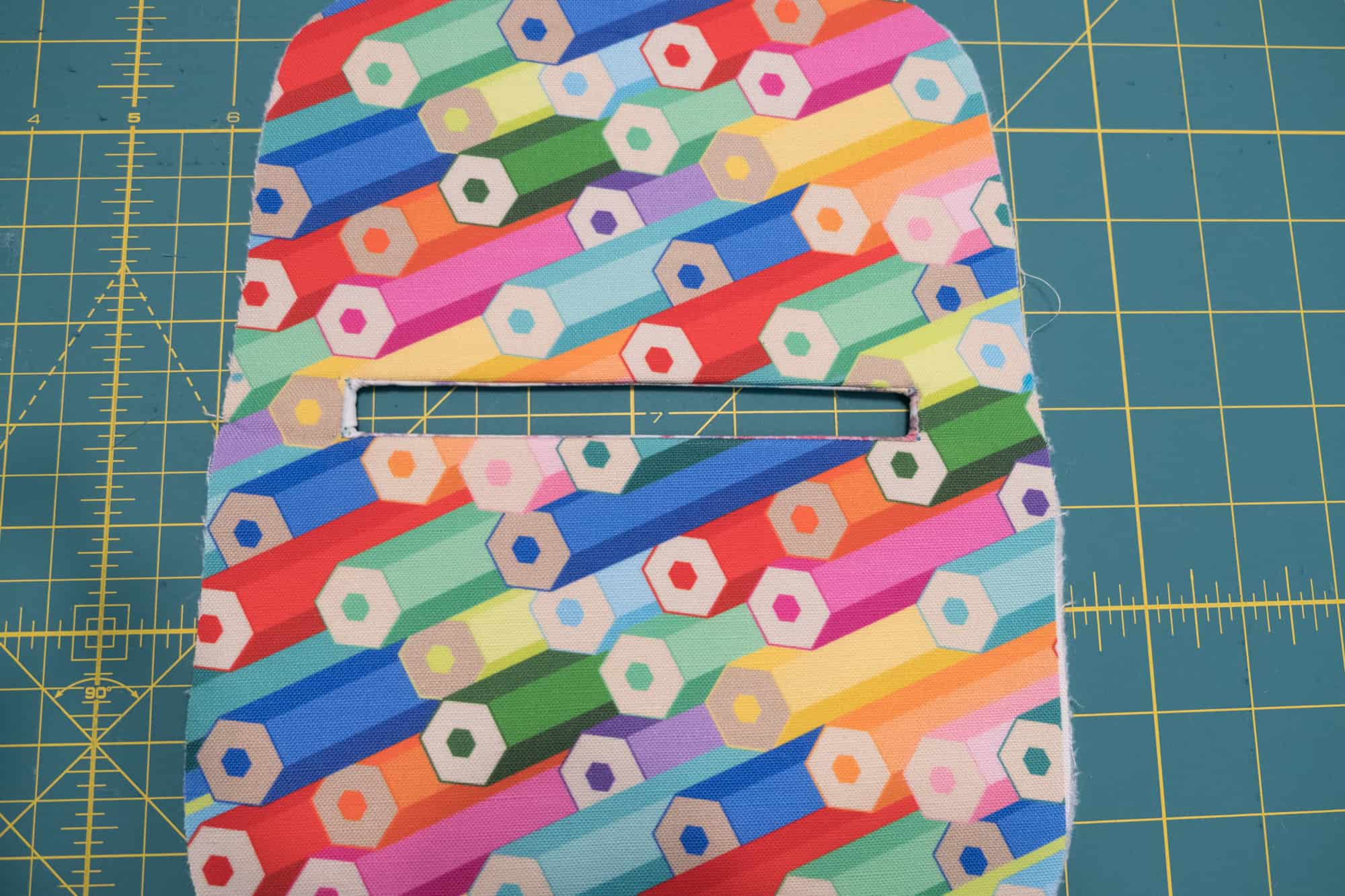 Push fabric through so it's on the backside of the exterior panel | Spoonflower Blog