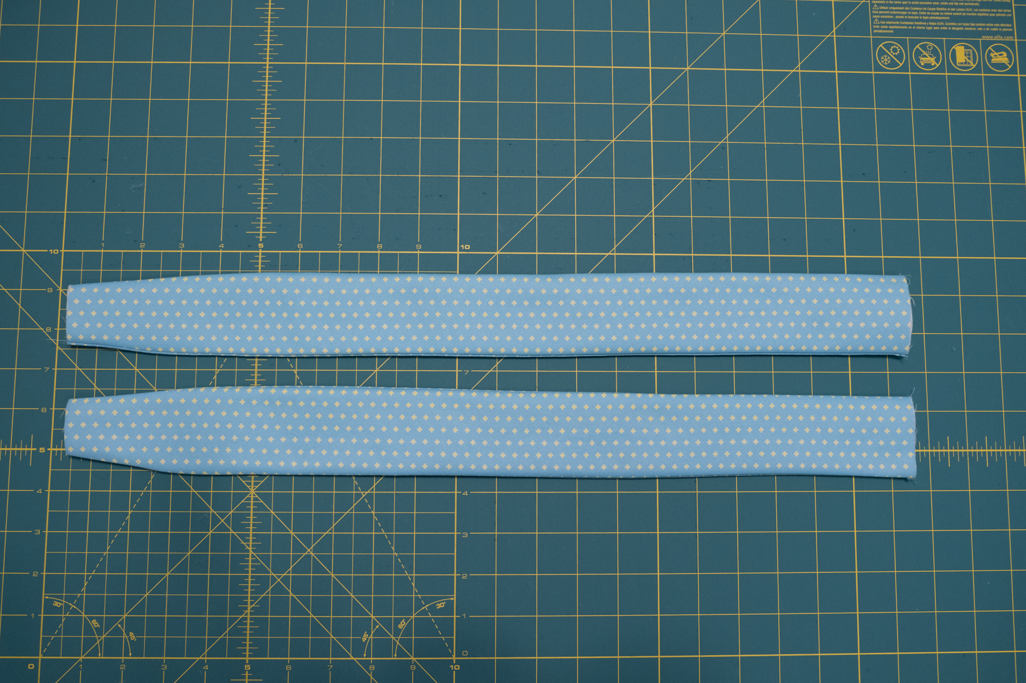 Turn straps right side out | Spoonflower Blog