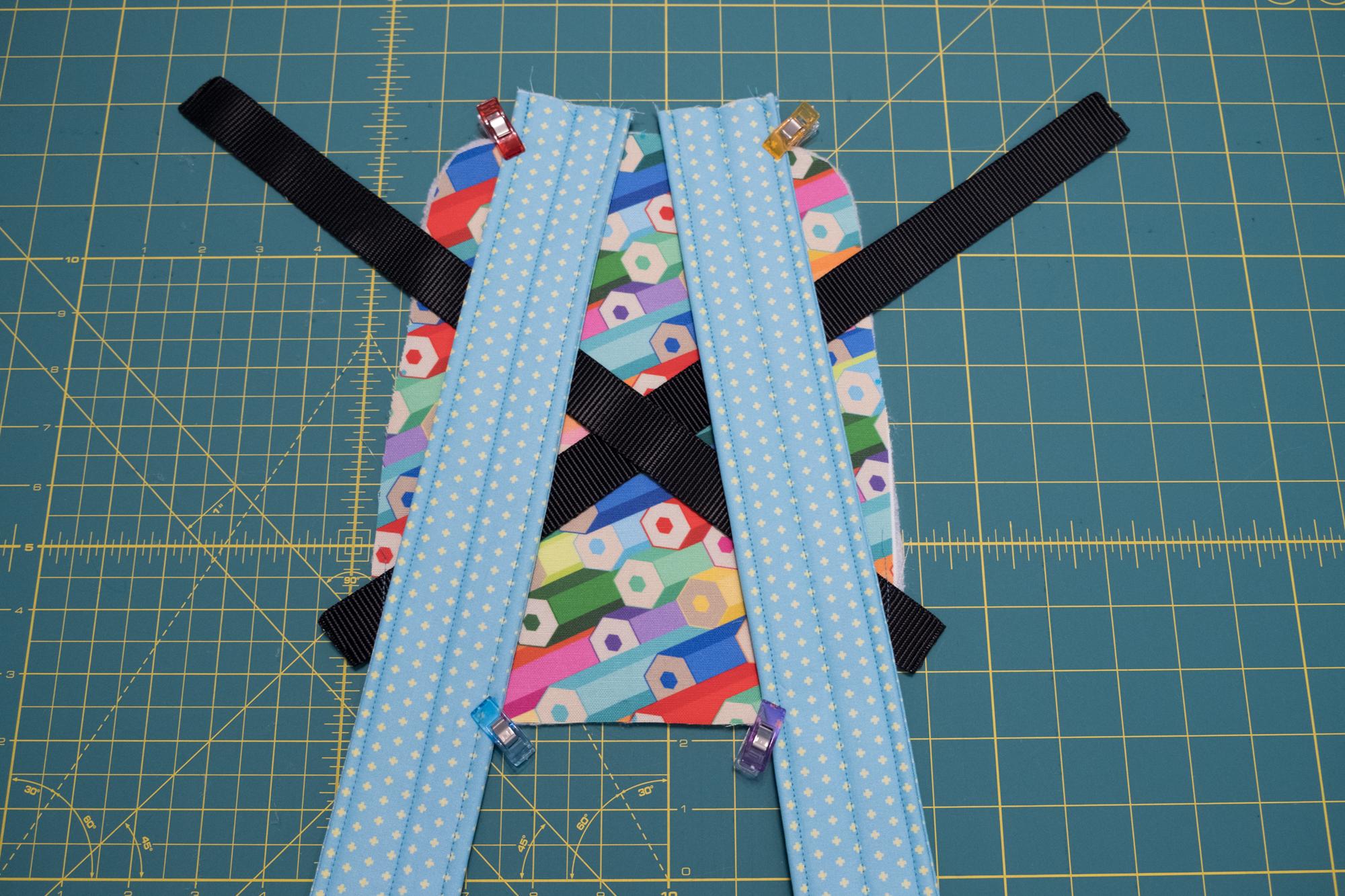 Align the straps to the bookbag | Spoonflower Blog