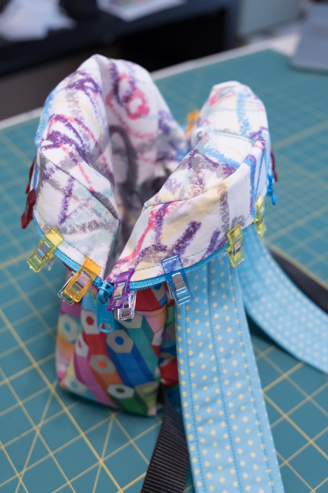 Tutorial für DIY Rucksack aus Spoonflower Stoffen