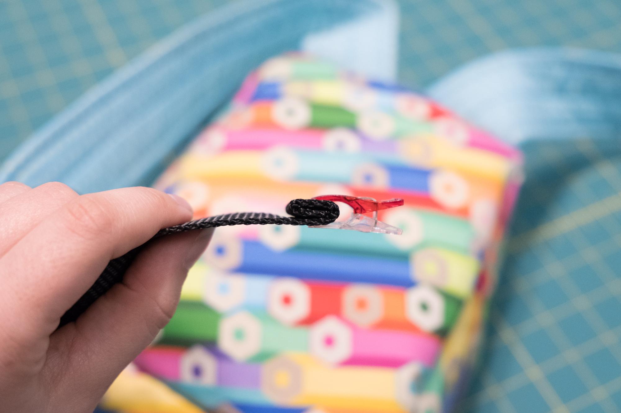 Topstitch your webbing | Spoonflower Blog