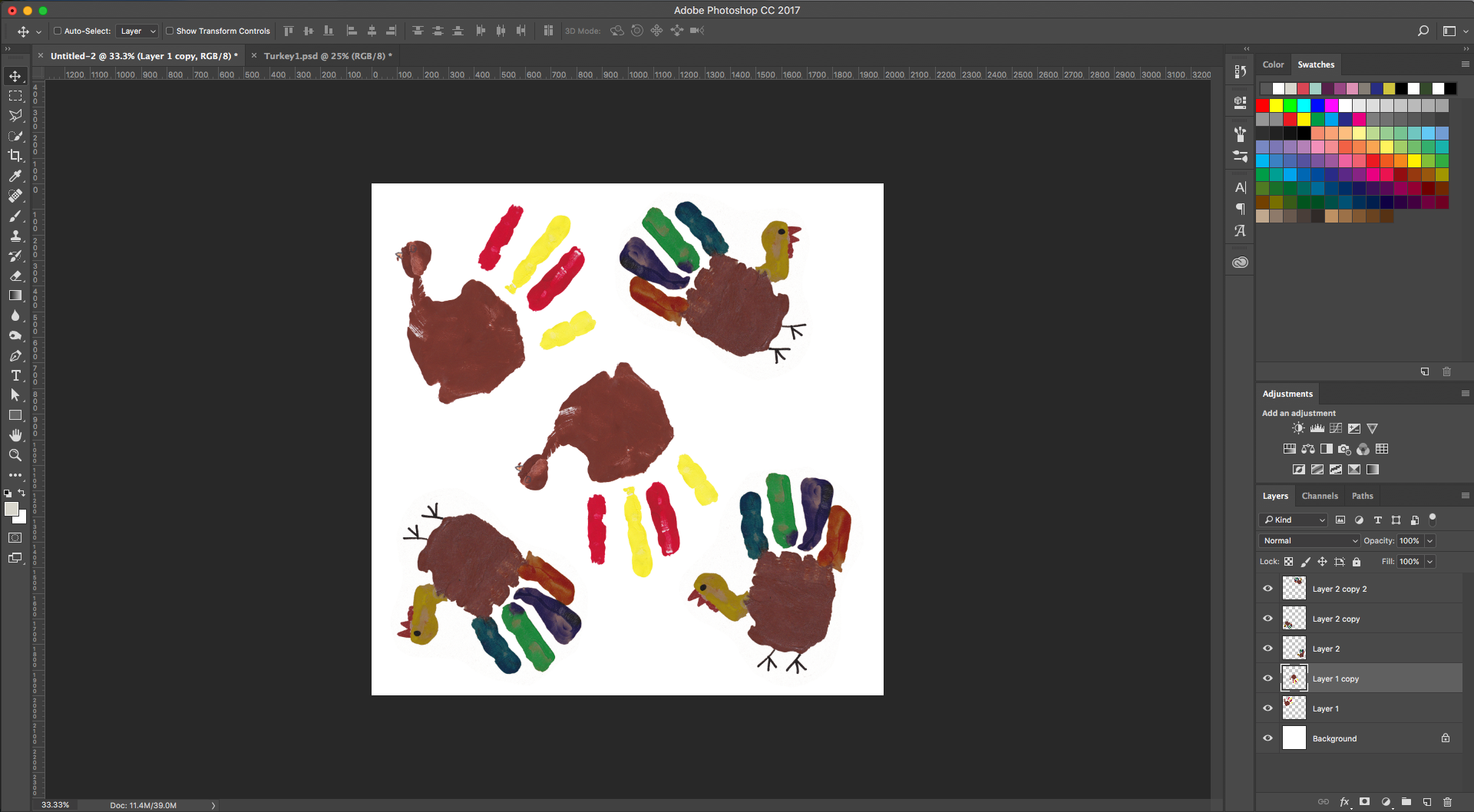 Add more turkeys to the canvas | Spoonflower Blog