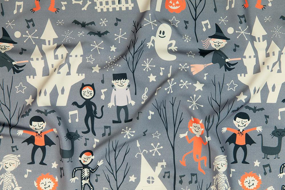 Vintage Halloween design challenge winner: natalia_gonzalez | Spoonflower Blog