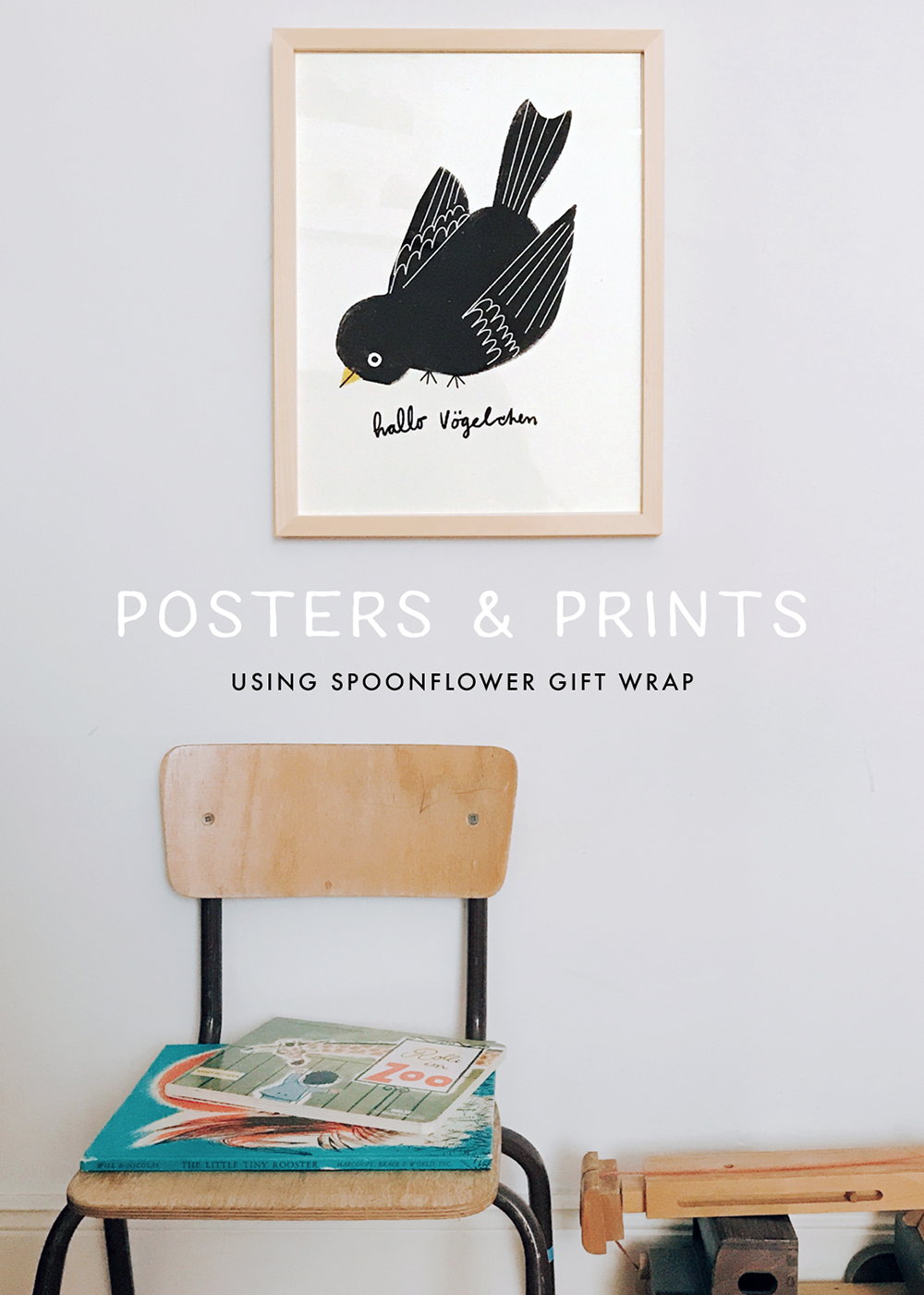 Posters and prints using Spooonflower gift wrap | Spoonflower Blog