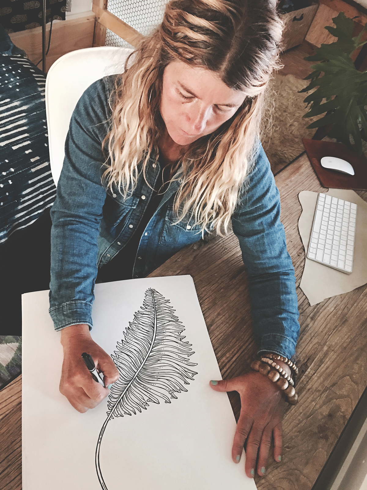 Holli Zollinger in her studio | Spoonflower Blog