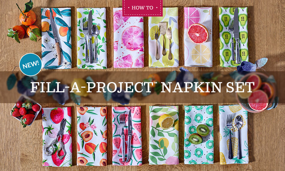 Fill-A-Project Napkin Set | Spoonflower Blog