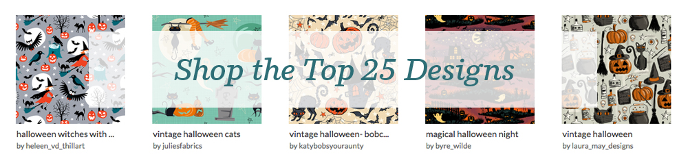 Shop the top 25 Vintage Halloween Design Challenge | Spoonflower Blog