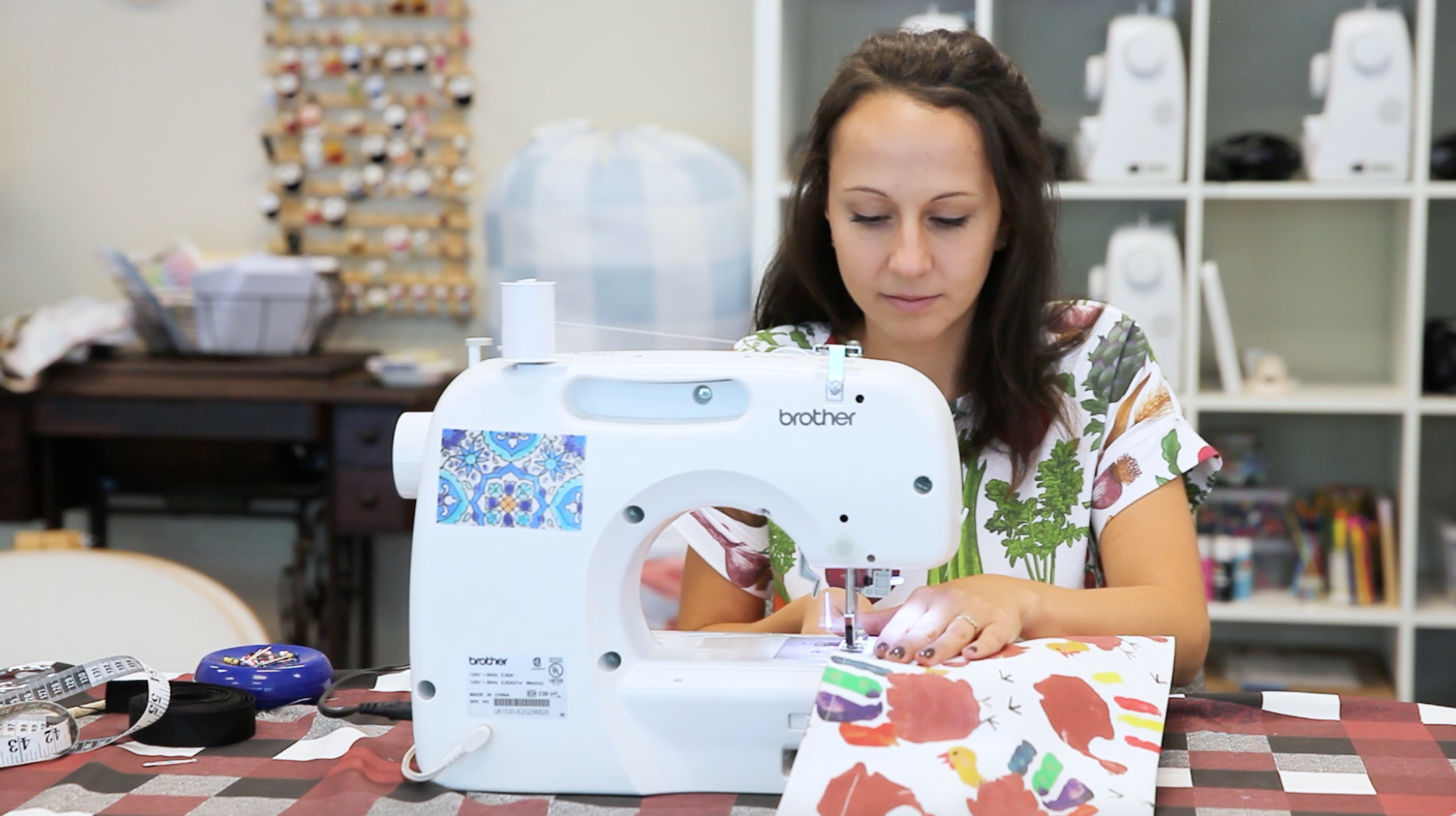 Sew the apron pocket closed | Spoonflower Blog