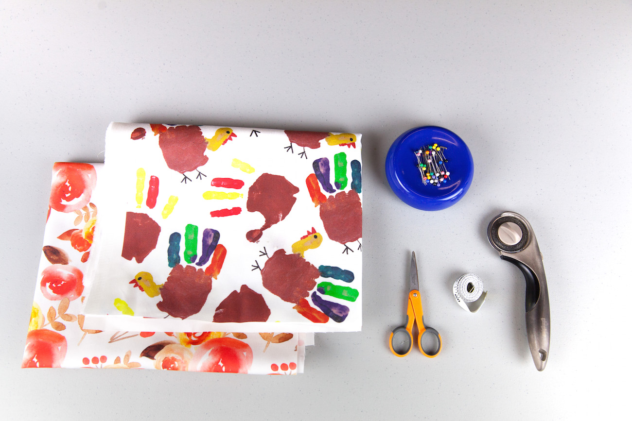 Materials for our table runner | Spoonflower Blog
