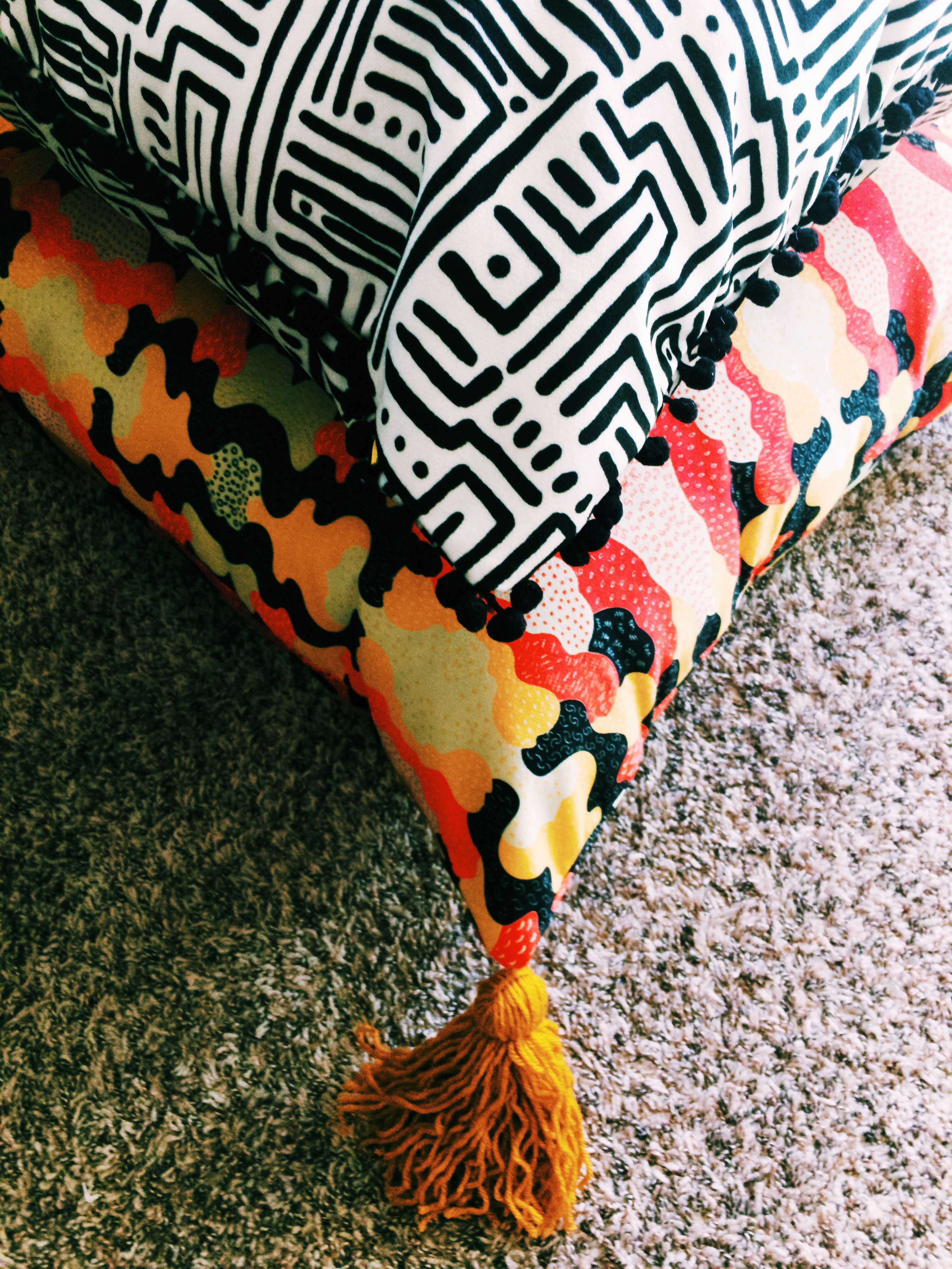 The Essential DIY Floor Pouf in Celosia Velvet™! | Spoonflower Blog