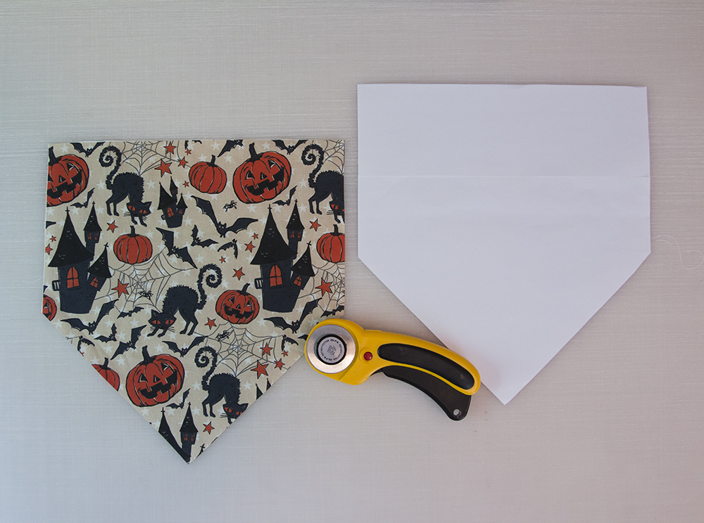 Cut out your dog bandana fabric | Spoonflower Blog