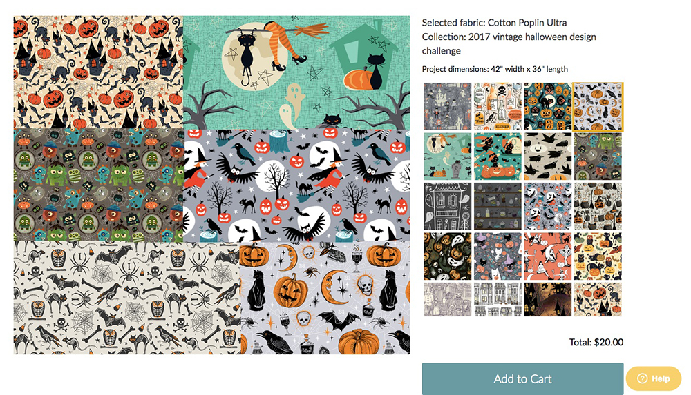 Halloween inspired designs for DIY dog bandanas | Spoonflower Blog