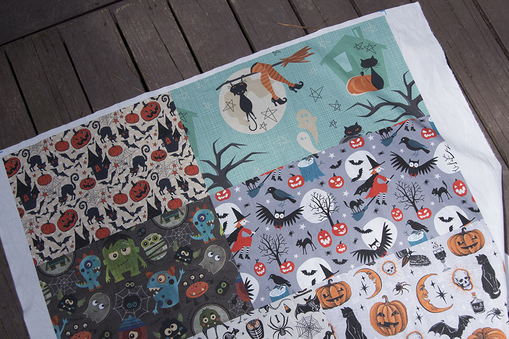A Halloween inspired Fill-a-Project is ready for DIY dog bandanas | Spoonflower Blog