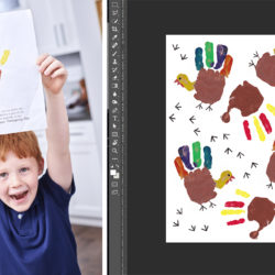 Turkey hands, from artwork to digital repeating pattern | Spoonflower Blog
