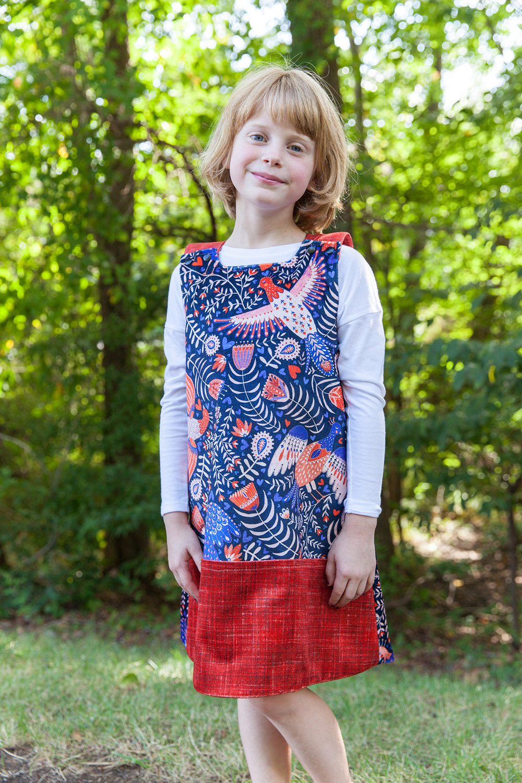 Celosia Velvet Baa Baa Dress by Sprout Patterns | Spoonflower Blog
