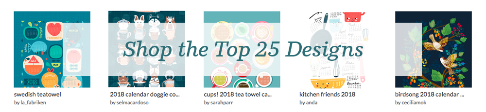 Shop the top 25 2018 Tea Towel Calendars | Spoonflower Blog