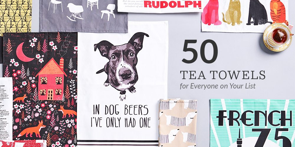50 Tea Towel Designs for Everyone on Your List | Spoonflower Blog