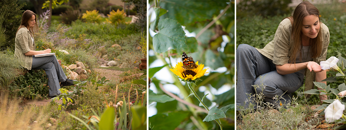 Johanna Parker in her garden | Spoonflower Blog