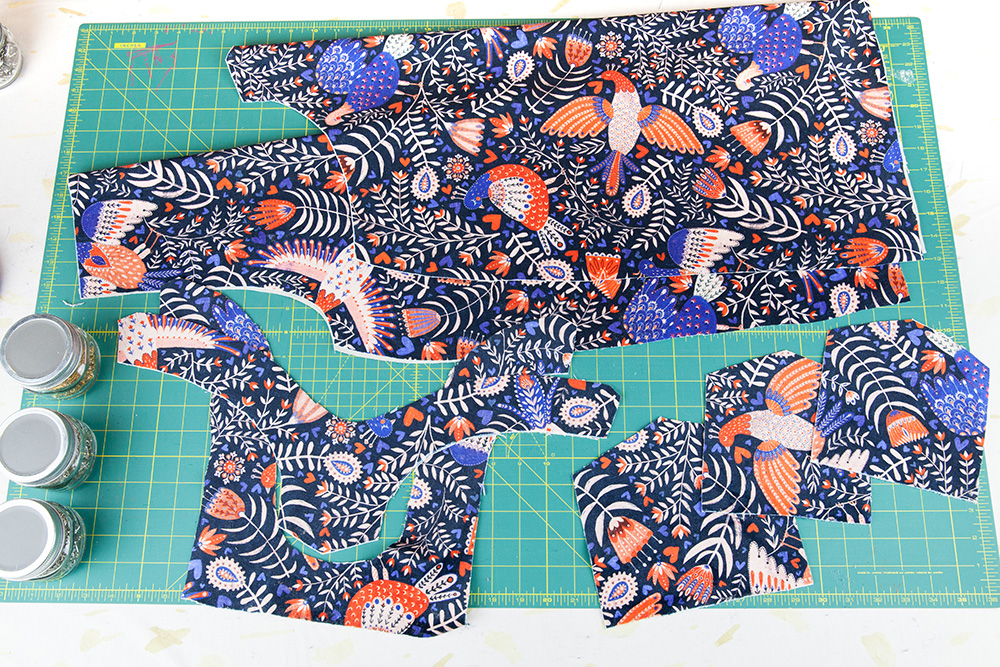 Cut Cleo pattern pieces | Spoonflower Blog