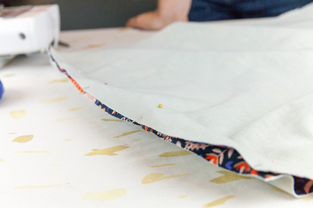 Pin together back and front panels | Spoonflower Blog