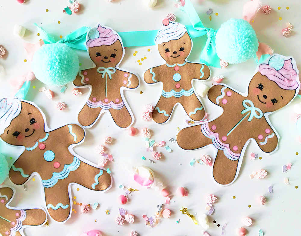 Satisfy your Sweet Tooth with DIY Gingerbread Bunting | Spoonflower Blog