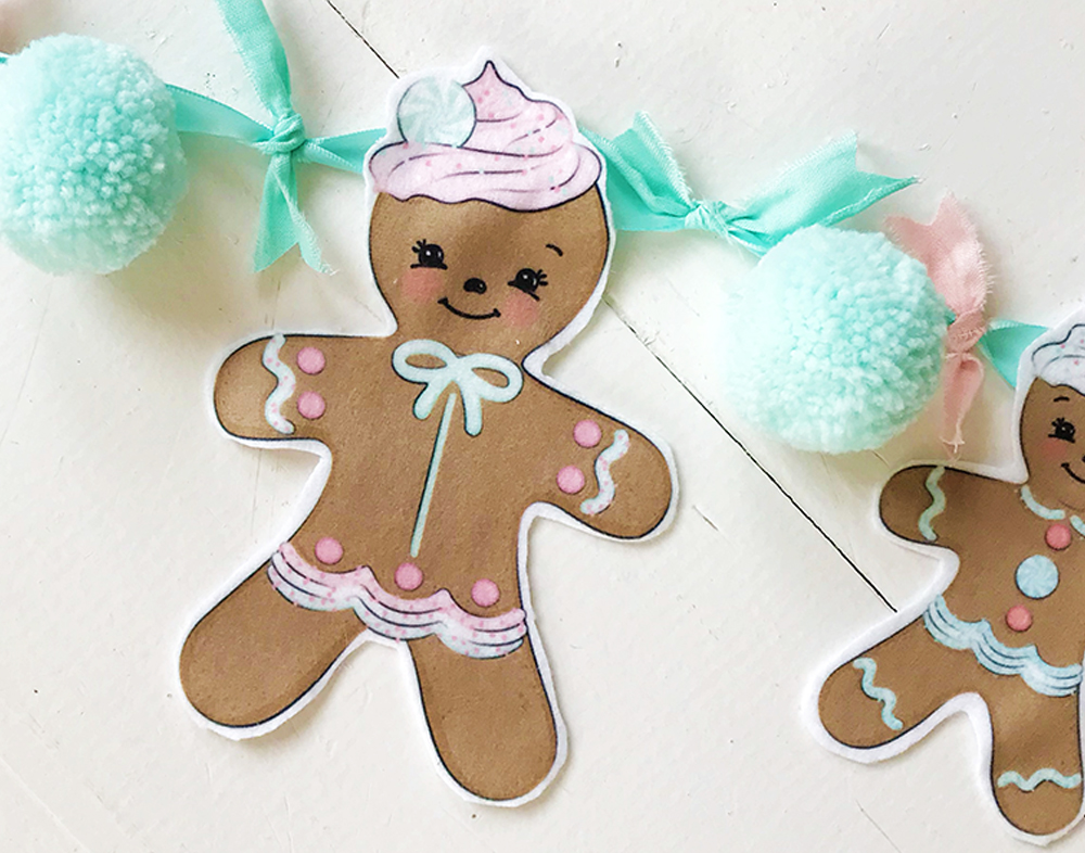 Satisfy your sweet tooth with gingerbread bunting | Spoonflower Blog