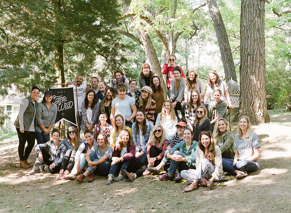 Camp Wed attendees | Spoonflower Blog